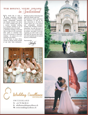 Wedding Excellence Switzerland has been selected as Switzerland's best wedding planner