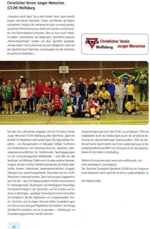 Auch der CVJM Wolfsburg wurde mit seinen sozialsportlichen und integrativen Aktivitäten in der Integrations-Broschüre der Stadt Wolfsburg vorgestellt