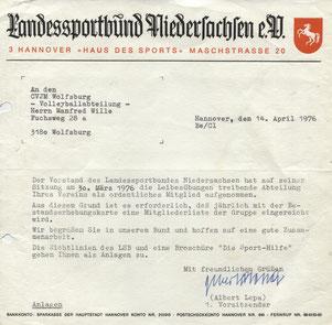 Die Aufnahme in den LandesSportBund Niedersachsen