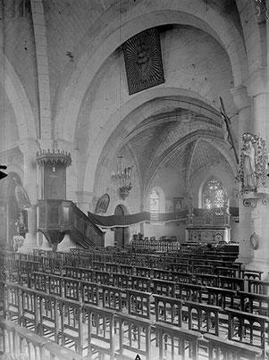 Photo de l'intérieur de l'église hospitalière de Chasseneuil