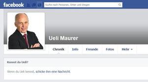 Ueli Maurer Facebook Profil