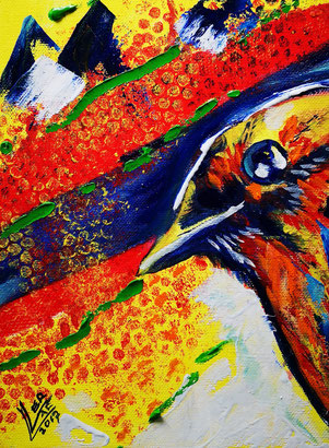 33.Robin the eye 40x50 cm