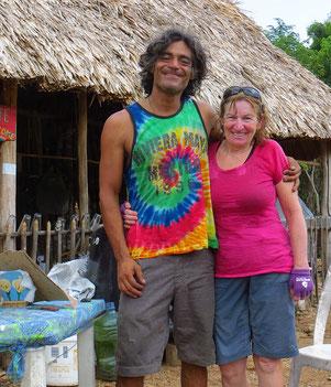 Sebastiano aus Argentinien ist der dritte Velofahrer, den wir in Mexiko treffen.