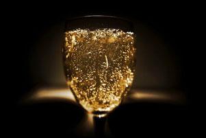 Teurer Marken-Champagner im Glas