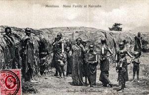 Famiglia Masai presso Naivasha