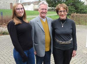 Ann-Linn Zachow (von links), Peter Placke und Anne Zachow