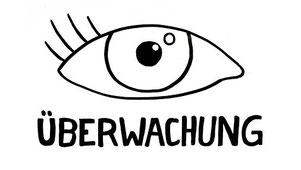 Bild: Auge mit der Unterschrift: Überwachung