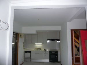 8畳部屋天井・壁ペイントです