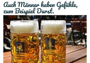 Ein starkes Gefühl von Männern ist der Bier-Durst (Foto: Pixabay)