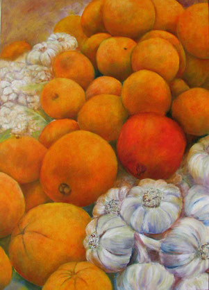 Apfelsinenflut   Öl aufLeiwand 100x70cm