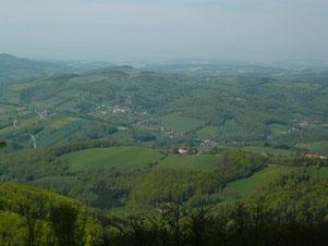 ウィーンの森最高点シェプフルからの眺め
