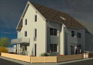 Neubau eines 2-Familienhauses