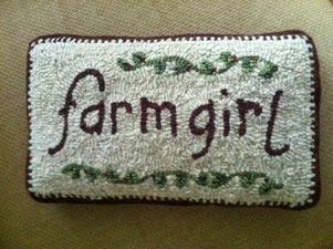 Farmgirl pillow