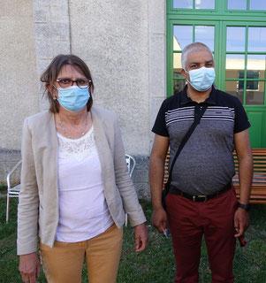 De gauche à droite : Anne Maricot et Dominique Duclos.