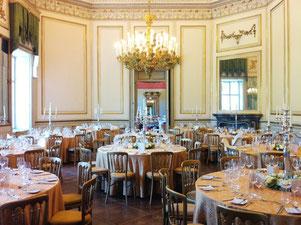 Palais Schönburg - gedeckte Hochzeitstafel