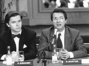 De Vlaamse Opera VLOS 1988 Pressekonferenz: Carl Grouwet, Dr. Gerard Mortier
