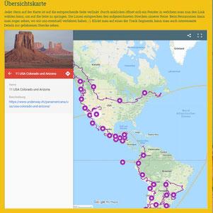 Google Maps: Übersichtskarte mit Links