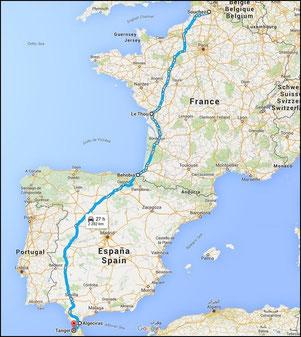 Notre descente vers le Sud de l'Espagne