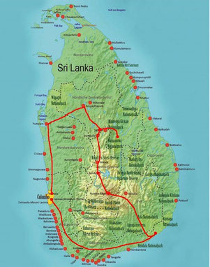 Sri Lanka Rundreise 1-Woche Kleingruppe bis 14 Personen ab Colombo oder mit Flug