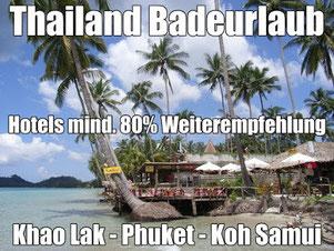 Thailand lastminute Reisen Badeurlaub günstig buchen mit Flug
