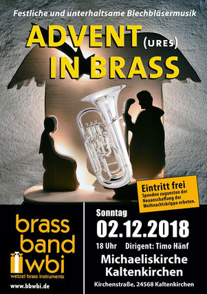 Brass Band WBI zum Adventskonzert in Kaltenkirchen