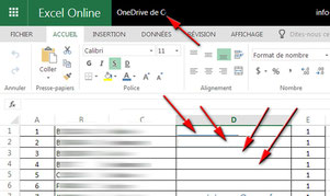 Excel on line le 13 avril 2017
