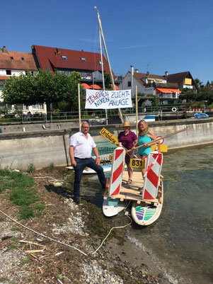 Boot von Katharina Koslowski und Kerstin Kaspar von den Katholischen Frauen Meersburg