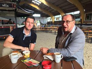 Mit Christian Schmid beim Sonntagsfrühstück