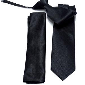 corbata laboral negra