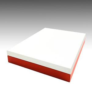 Caja bufanda bicolor