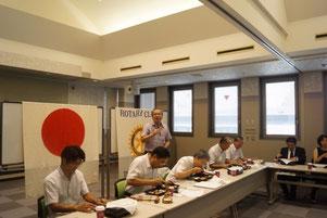 香川県弁護士会館で吉田茂会員から説明を受ける
