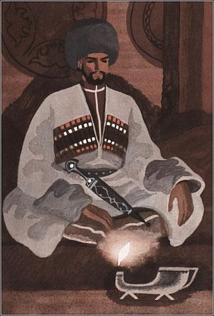 Khadjí-Murat segons les il•lustracions de I. Urmanche, 1981.