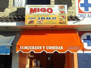 Fachada del loca COMIDAS MIGO