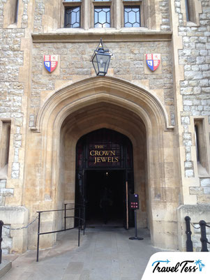 Ingang Crown Jewels Londen