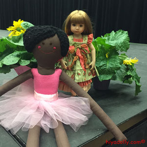 Dianna Effner Little Darling Doll by Geri Uribe, OOAK Cloth ballet doll