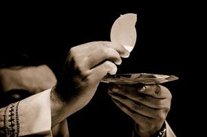 Eucharistie Feier - Hostie der Leib Christi