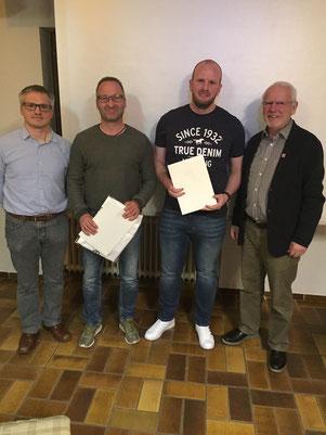Bild von links: Vorsitzender Guido Krapp, Peter Rabenau, Jan-Dominik Schmidt, Reiner Volk