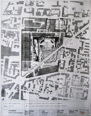 Plan cadastral Site Schlumberger, Montrouge - 1983