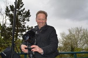 Begleiteten das Maifest film- und tontechnisch: Filmemacher Björn Kempcke ...