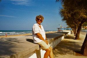 die einzig verbliebene Sommer-Touristin