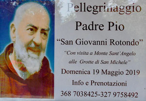 Plakat vor der Kirche San Francesco c´Asissi in Tortora