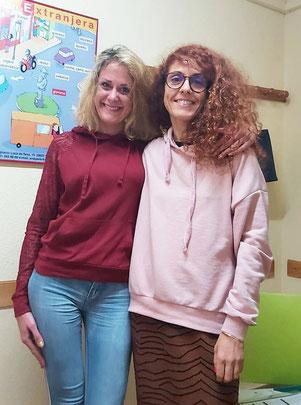 Eva und Trainerin Mara