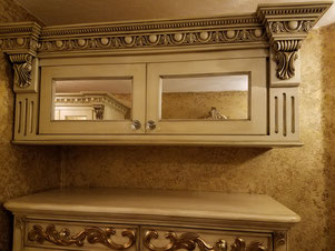 French Provencial closet cabinet