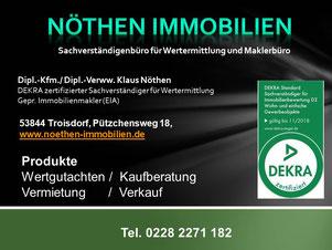 Sachverständiger und Immobilienmakler für Bonn, Troisdorf und Niederkassel