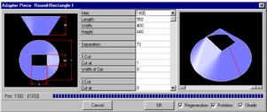 Screenshot Parametereingabe