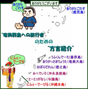 奄美群島への旅行者のための方言紹介