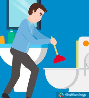Déboucher une douche avec une ventouse