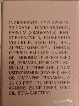 Inci confezione olio Medavita Huile d'étoile