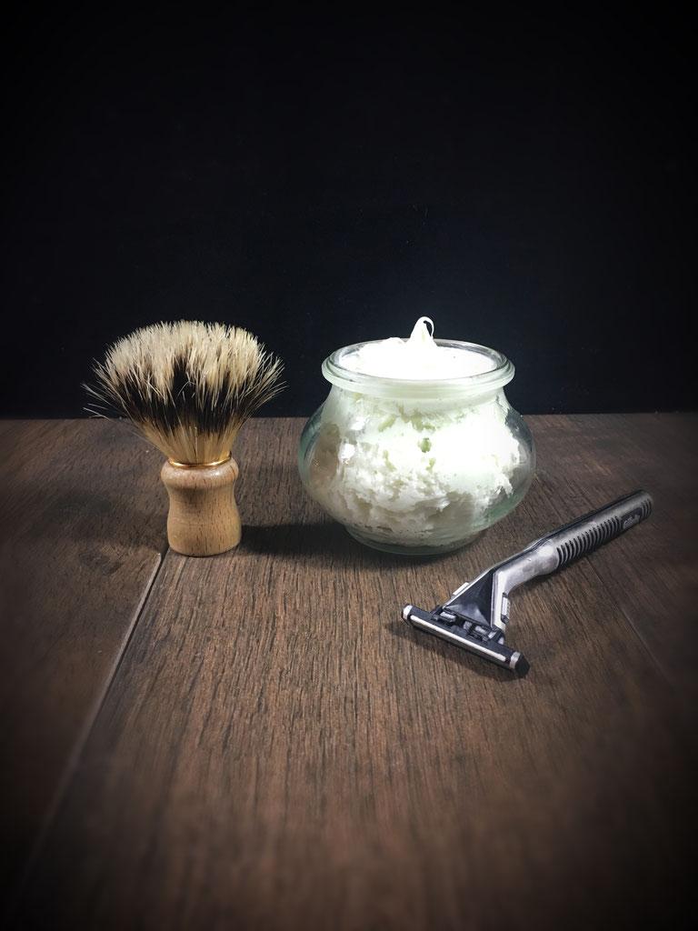 Rasiercreme selber gemacht mit Sheabutter aus dem Thermomix vegan