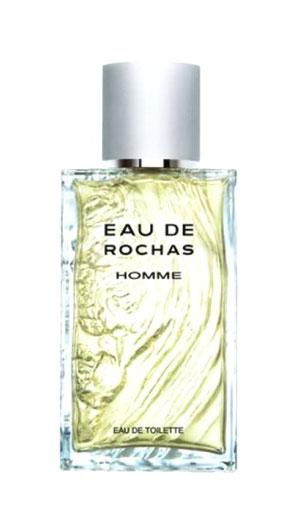 ROCHAS - EAU DE ROCHAS HOMME : FLACON VAPORISATEUR EAU DE TOILETTE - EN VERRE MARTELE